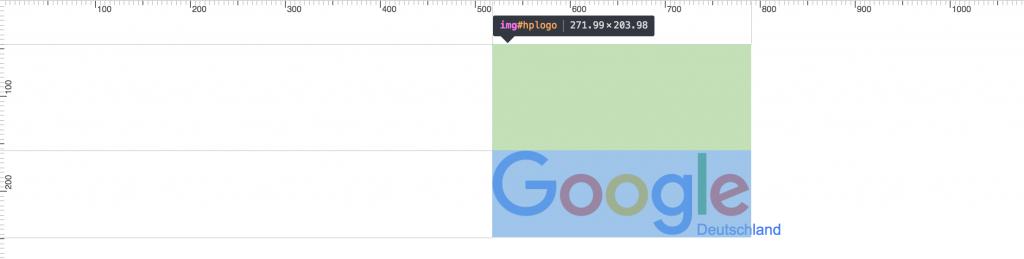 Das Lineal von Chrome im Einsatz