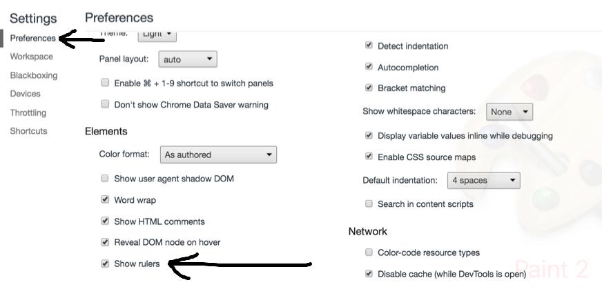 Lineal für Chrome aktivieren